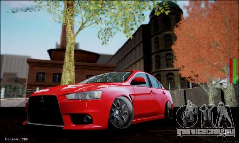Mitsubishi Lancer Evolution X Stance Work для GTA San Andreas