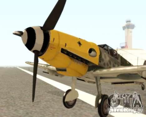 Bf-109 G6 v1.0 для GTA San Andreas вид слева