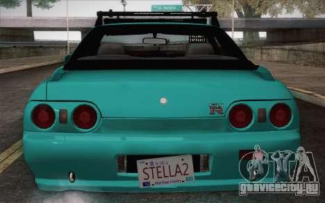Nissan Skyline R32 Stella для GTA San Andreas вид сзади слева