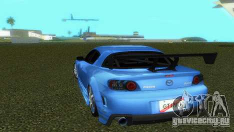 Mazda RX8 Type 1 для GTA Vice City вид изнутри
