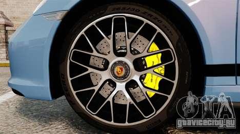 Porsche 911 Turbo 2014 [EPM] KW iSuspension для GTA 4 вид сзади