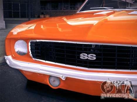 Chevrolet Camaro SS 1969 для GTA San Andreas вид справа