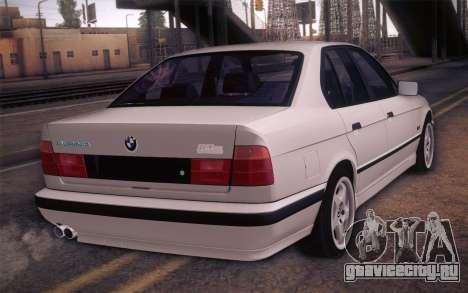 BMW E34 Alpina для GTA San Andreas вид слева