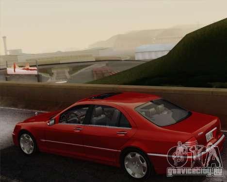 Mercedes-Benz S600 Biturbo 2003 для GTA San Andreas вид изнутри
