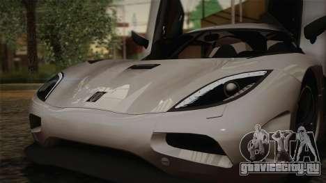 Koenigsegg Agera для GTA San Andreas салон