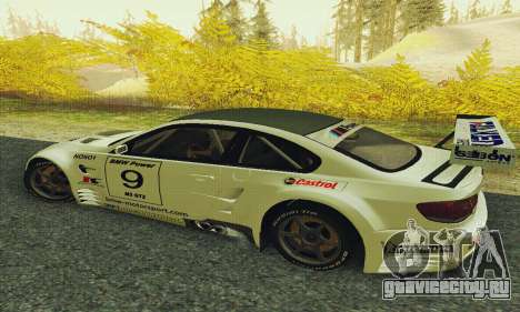 BMW M3 GT2 E92 ALMS для GTA San Andreas вид слева