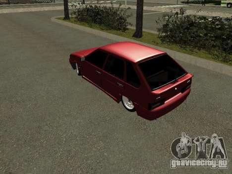 Ваз 2114 БПАN для GTA San Andreas вид сзади слева