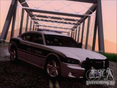 Dodge Charger San Andreas State Trooper для GTA San Andreas вид сзади слева