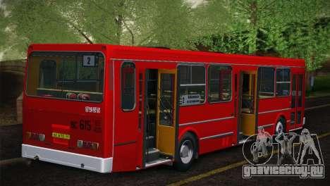 ЛиАЗ 5256.00 Скин-пак 5 для GTA San Andreas вид сзади слева