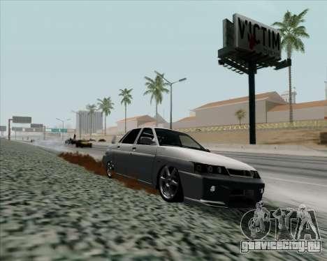 ВАЗ 2110 v2 для GTA San Andreas вид сзади слева