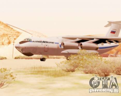 Ил-76ТД v2.0 для GTA San Andreas вид сзади слева