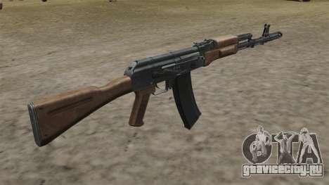 Автомат AK-74 стоковый для GTA 4 второй скриншот