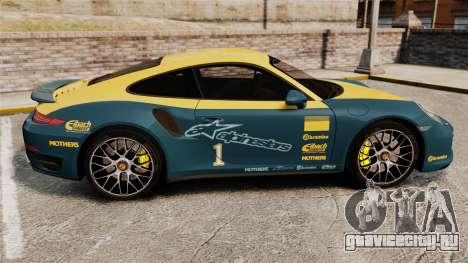 Porsche 911 Turbo 2014 [EPM] Alpinestars для GTA 4 вид слева