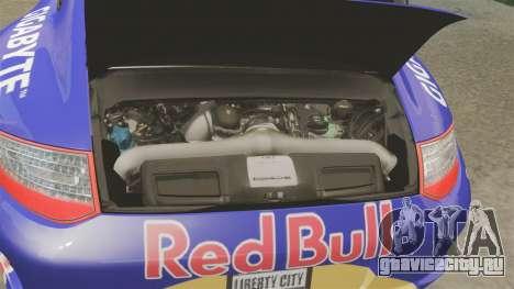 Porsche 911 Sport Classic 2010 Red Bull для GTA 4 вид изнутри
