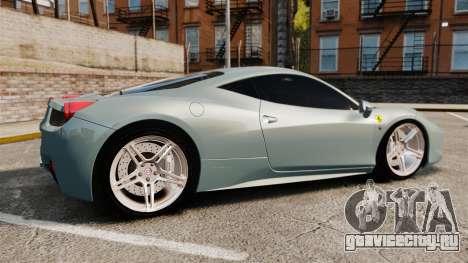 Ferrari 458 Italia 2009 для GTA 4 вид слева