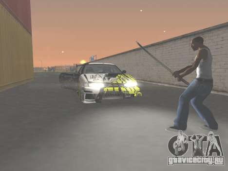 CSO Katana для GTA San Andreas пятый скриншот