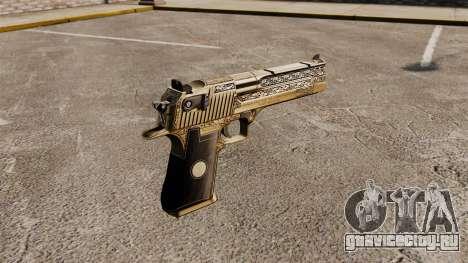 Роскошный пистолет Desert Eagle для GTA 4 второй скриншот
