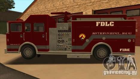 Firetruck HD from GTA 3 для GTA San Andreas вид слева