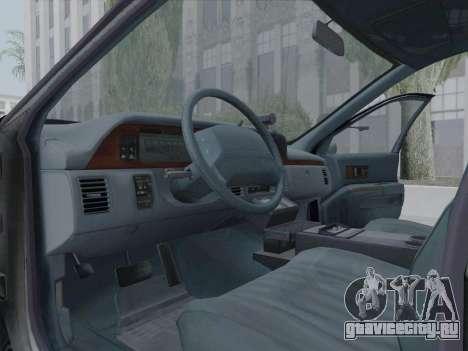 Chevrolet Caprice LAPD 1991 [V2] для GTA San Andreas вид изнутри