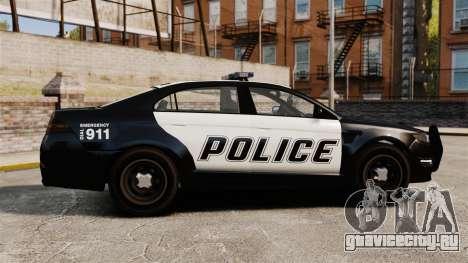 GTA V Vapid Police Interceptor [ELS] для GTA 4 вид слева