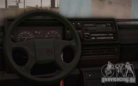 Volkswagen Golf Mk2 GTI для GTA San Andreas вид сзади