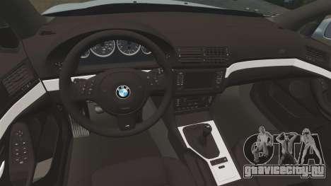 BMW M5 E39 2003 для GTA 4 вид изнутри