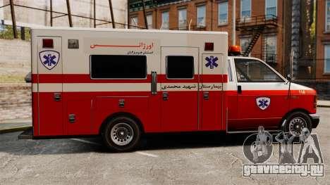 Иранская скорая помощь для GTA 4 вид слева