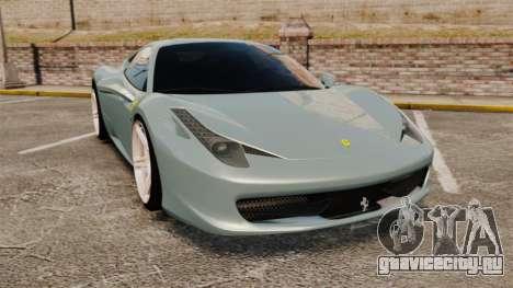 Ferrari 458 Italia 2009 для GTA 4