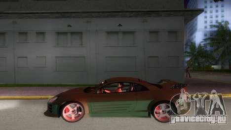 Mitsubishi Eclipse GT 2001 для GTA Vice City вид сзади