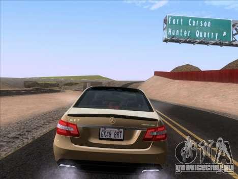 Mercedes-Benz E63 AMG 2011 Special Edition для GTA San Andreas вид сзади
