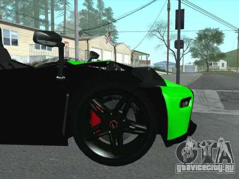 KTM Xbow R для GTA San Andreas вид сбоку