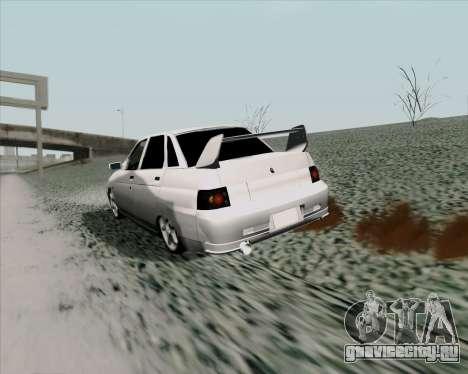 ВАЗ 2110 v2 для GTA San Andreas вид справа