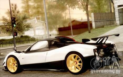 Pagani Zonda Cinque для GTA San Andreas вид сверху