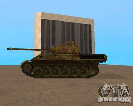 pz.kpfw v Panther для GTA San Andreas вид сзади слева