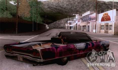 Покрасочная работа для Savanna для GTA San Andreas вид слева