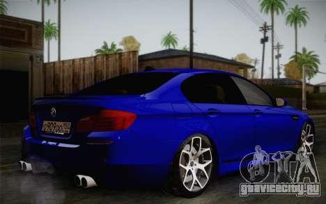 BMW M5 F10 v2 для GTA San Andreas вид сзади слева