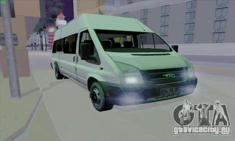 Ford Transit Jumgo для GTA San Andreas вид изнутри