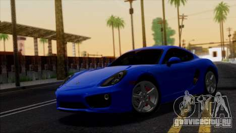 Porsche Cayman S 2014 для GTA San Andreas салон