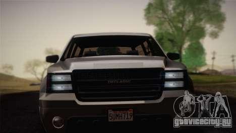 Granger Civil из GTA 5 для GTA San Andreas вид сзади слева