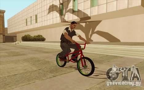 BMX для GTA San Andreas вид изнутри