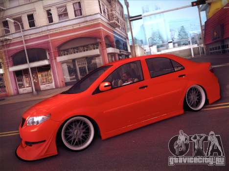 Toyota Vios Modified Indonesia для GTA San Andreas вид сбоку