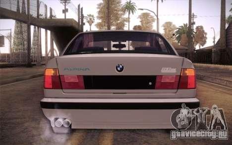 BMW E34 Alpina для GTA San Andreas вид сзади