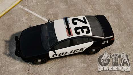GTA V Vapid Police Interceptor [ELS] для GTA 4 вид справа