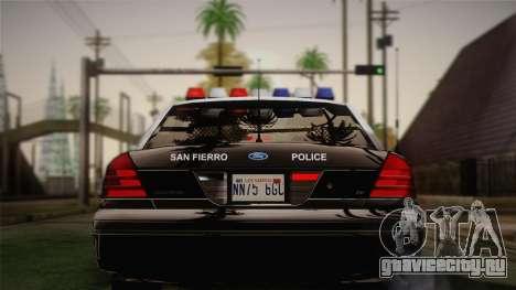 Ford Crown Victoria 2005 Police для GTA San Andreas вид справа