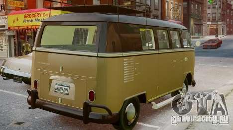 Volkswagen Transporter 1962 для GTA 4 вид слева