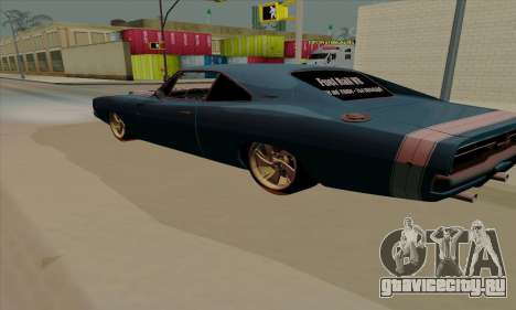 Dodge Charger 1969 Big Muscle для GTA San Andreas вид справа