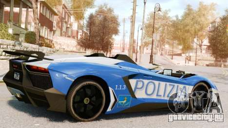 Lamborghini Aventador J Police для GTA 4 вид слева