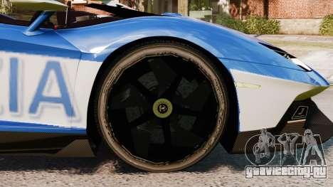 Lamborghini Aventador J Police для GTA 4 вид сзади