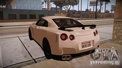 Nissan GT-R SpecV Ultimate Edition для GTA San Andreas вид изнутри