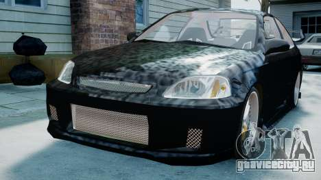 Honda Civic FnF для GTA 4 вид сзади слева